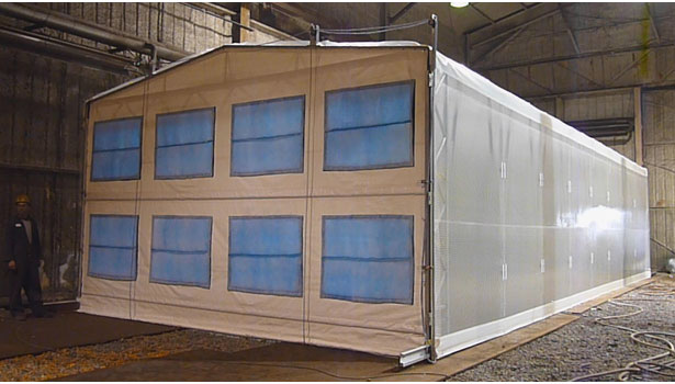 Retractable Paint Booths 2012 01 17 Pci Magazine