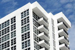 white apartment building aluminum