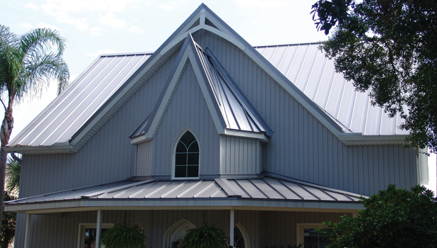 painted metal roof
