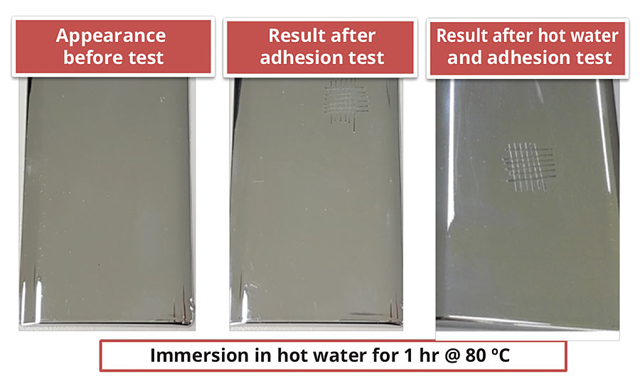 Hot water resistance