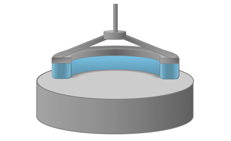 Cross-section of annular ring and sample for bulk diffusion measurement