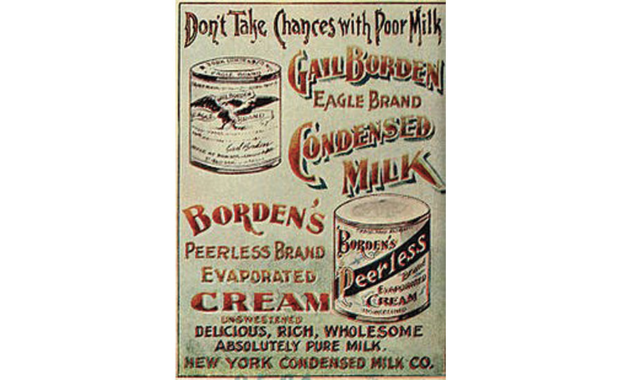 An early Borden's condensed evaporated milk poster