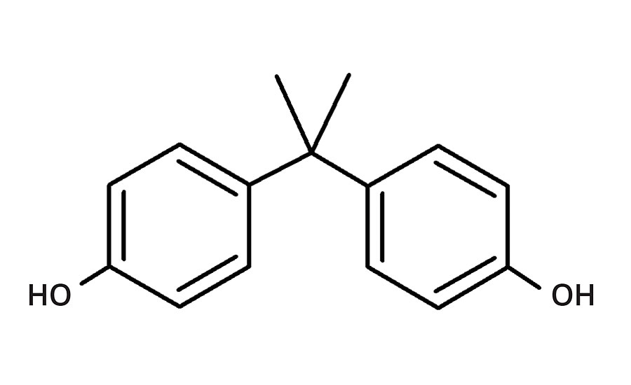 Chemical structure for bisphenol A