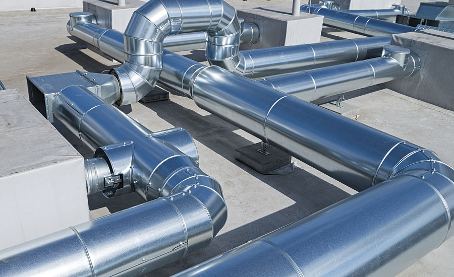 Formable sheet metal steel is the substrate of choice for commercial, industrial and institutional HVAC system ducting