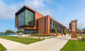 Northwestern's DeWitt Family Science Center Coated in Custom-Color Coil Coatings