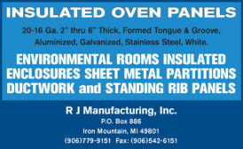 Insulated Oven Panels