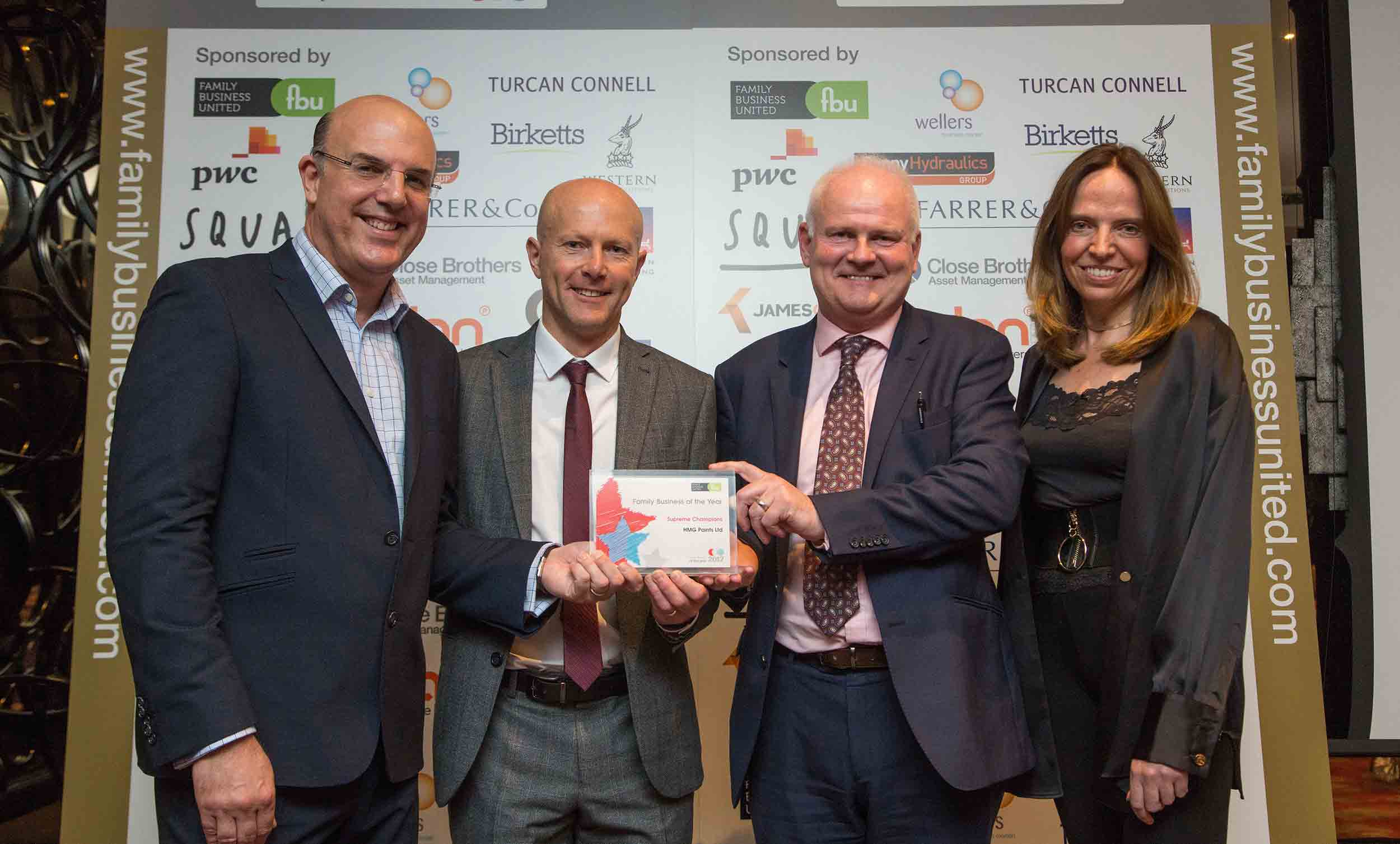 HMG Paints receives family business award