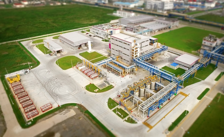 Evonik's new plant in Shanghai, China