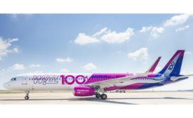 WizzAir plane coated with AkzoNobel coatings